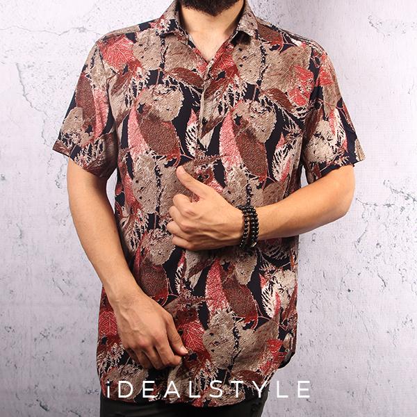 پیراهن مردانه اندامی مدل هاوایی 1187-1303